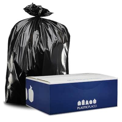 61 in. W x 68 in. H 95 Gal. - 96 Gal. 2.0 mil Black Gusset Seal Low Density Trash Bags (50-Case)