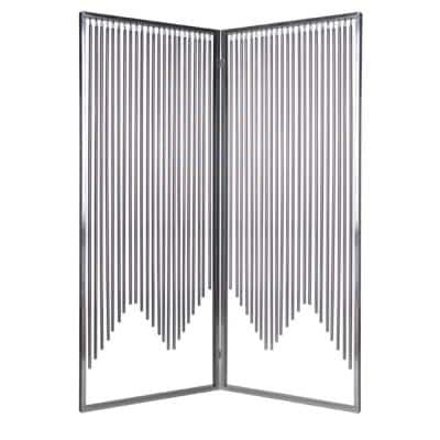 Mariana 7 ft. Silver 2-Panel Screen Divider