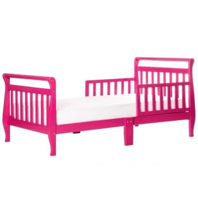 Fuschia Pink Toddler Sleigh Bed