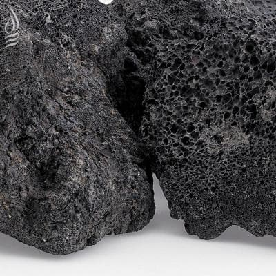 XXL Black Lava Rock (4 in. - 6 in.) 20 lbs. Bag