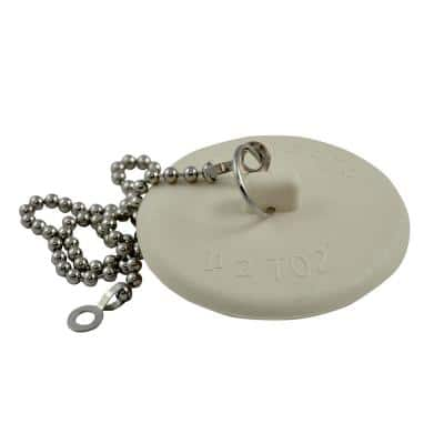 1-1/2 in. - 2 in. Universal Tub Stopper with Chain (2-Pack)