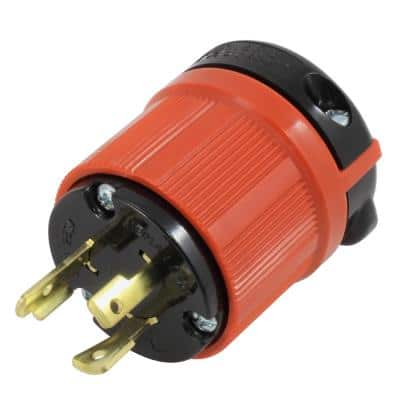 AC Connectors NEMA L6-20P 20 Amp 250-Volt 3-Prong Assembly Locking Male Plug