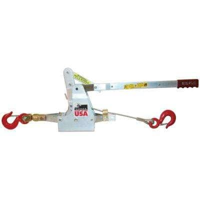 6,000 lb. 3-Ton Capacity 12 ft. Max Lift 35:1 Leverage Winch Puller Come Along Tool with Included Cable