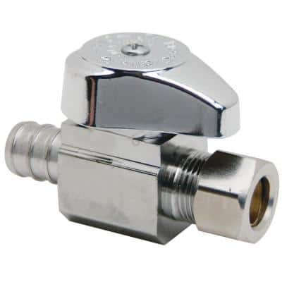 1/2 in. Crimp PEX Barb Inlet x 3/8 in. Compression Outlet Straight Valve