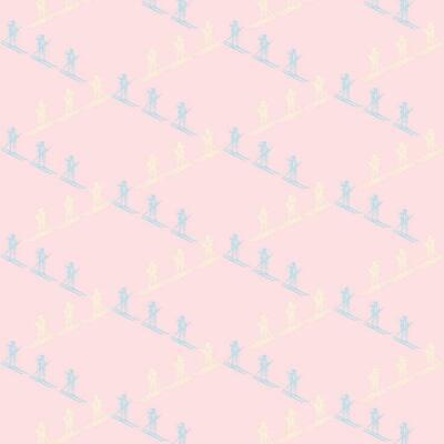 Ski Slope Vinyl Peelable Wallpaper (Covers 36 sq. ft.)