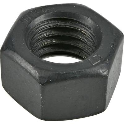 1/4 in.-20 Black Exterior Hex Nuts