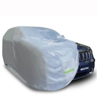 190 in. x 75 in. x 72 in. Heavy-Duty 190T Silver Polyester Waterproof Car Cover for SUV