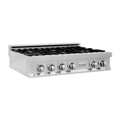ZLINE 36 in. Porcelain Gas Stovetop with 6-Gas Burners (RT36)