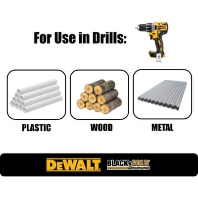 1/2 in. x 12 in. Black and Gold Drill Bit