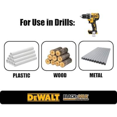 Black and Gold Drill Bit Set (21-Piece)