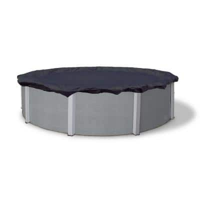 8-Year 18 ft. Round Navy Blue Above Ground Winter Pool Cover