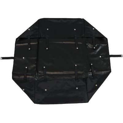 Black Vinyl Utility Garden Cart Heavy-Duty Polyester Liner
