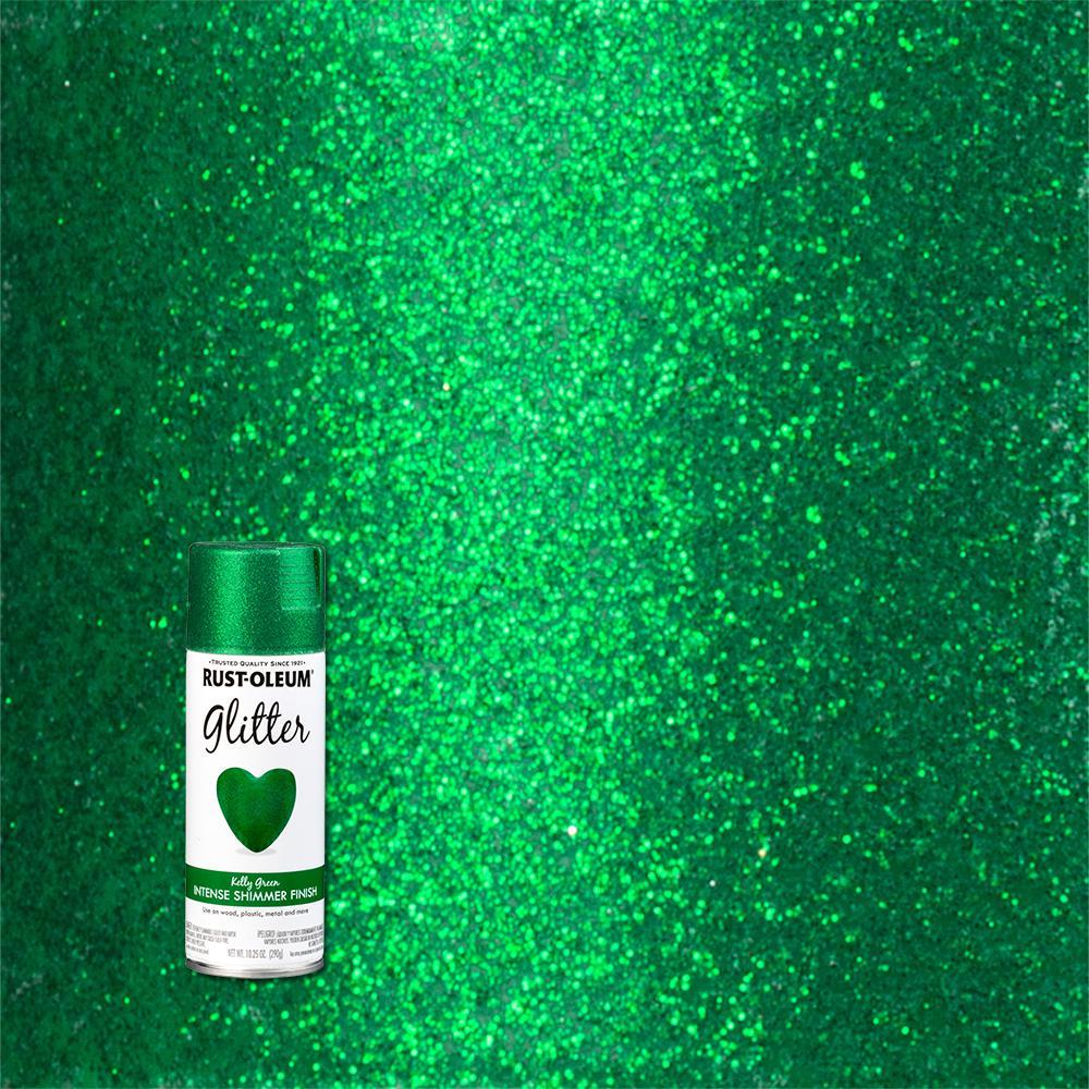 10.25 oz. Kelly Green Glitter Spray Paint