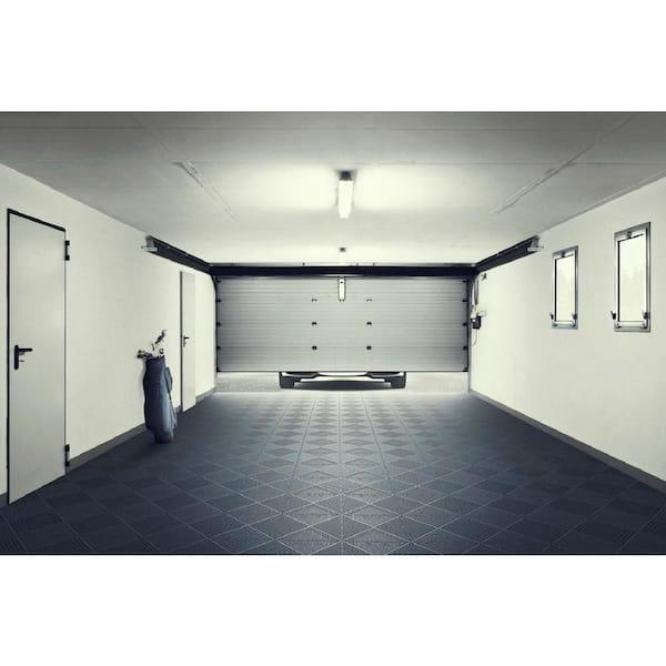 Bergo Unique 14 9 In X 14 9 In Graphite Polypropylene Garage Floor Tile 54 Sq Ft Case Uitilegp The Home Depot