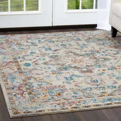 Parlin Gray 3 ft. x 4 ft. Indoor Area Rug