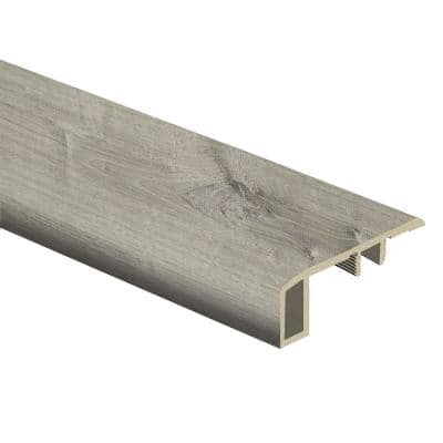 Sterling Oak/Gray Birch Wood 7/16 in. Thick x 1-3/4 in. Wide x 72 in. Length Vinyl Carpet Reducer Molding