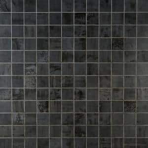 Angela Harris 11.5 in. x 11.5 in. Gray Porcelain Mosaic Floor and Wall Tile (0.92 sq. ft. / piece)