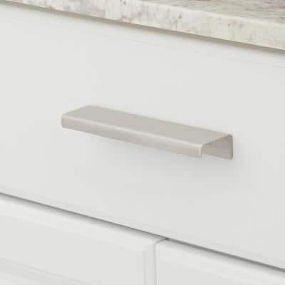 4 in. (102 mm) Center-to-Center Stainless Steel Contemporary Edge Pull
