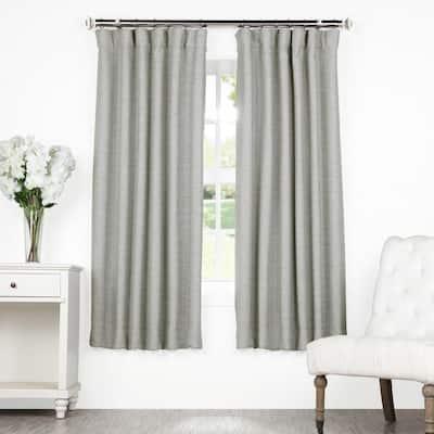 Vista Grey Rod Pocket Blackout Curtain - 50 in. W x 63 in. L