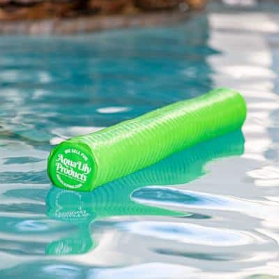 Durable Soft Buoyant Polyethylene Pool Noodle Float, Green