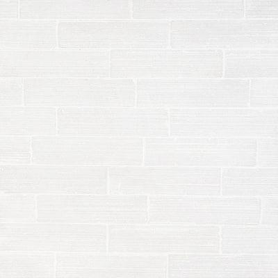 Rhythmic Stroke Matte White 2 in. x 9 in. Glazed Clay Subway Wall Tile (4.63 sq. ft./Case)