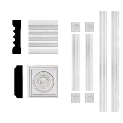 3/4 in. x 3 in. x 6 ft. MDF Fluted Window Casing Moulding Set