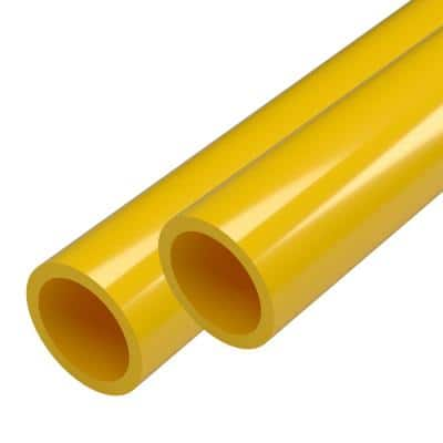 1 in. x 5 ft. Yellow Furniture Grade Schedule 40 PVC Pipe (2-Pack)