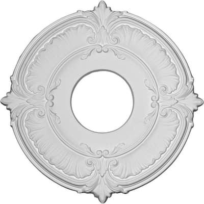 "1/2"" x 12-3/4"" x 12-3/4"" Polyurethane Attica Ceiling Medallion Primed White"