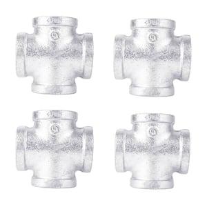 3/4 in. Galvanized Iron Cross Fitting (4-Pack)