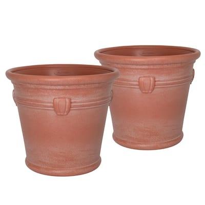 Waterton 18 in. Dia Resin Planter (2-Pack)