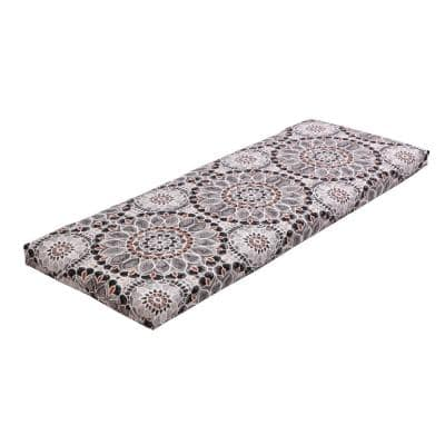 Rectangular Outdoor Bench Cushion in Cooper Medallion