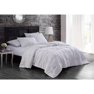 Flynn 7-Piece White King Comforter Set