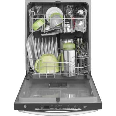 24 in. Stainless Steel Top Control Built-In Tall Tub Dishwasher 120-Volt with Steam Cleaning and 50 dBA