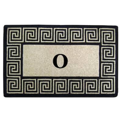 30 in. x 48 in. Greek Key Heavy Duty Coco Monogrammed O Door Mat