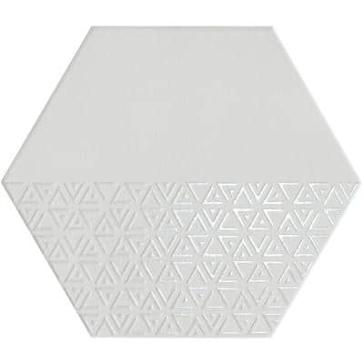 Rhythm Silver 11.22 in. x 12.95 in. Matte Patterned Look Porcelain Wall Tile (10.752 sq. ft./Case)