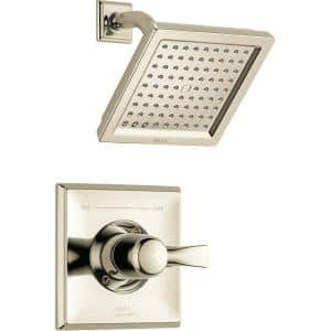 Dryden 1-Handle 1-Spray Raincan Shower Faucet Trim Kit in Polished Nickel (Valve Not Included)