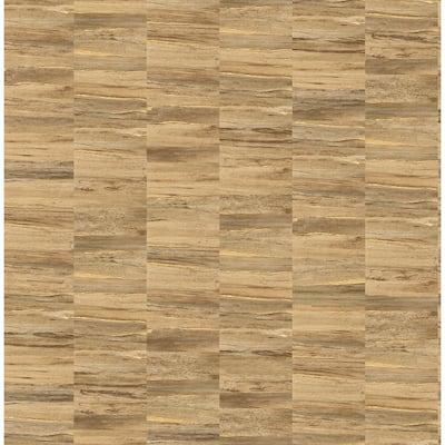 Hugo Copper Faux Wood Copper Wallpaper Sample