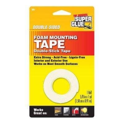 5/8 in. x 36 in. Double-Sided Foam Mounting Tape (12-Pack)