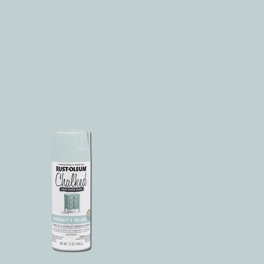 Rust-Oleum 12 oz. Chalked Serenity Blue Ultra Matte Spray Paint (6-Pack)