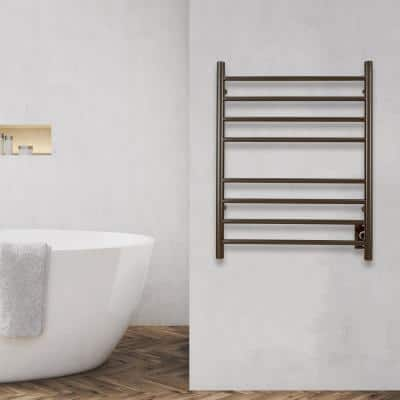 Prestige Dual 8-Bar Hardwired and Plug-in Towel Warmer in Oil Rubbed Bronze