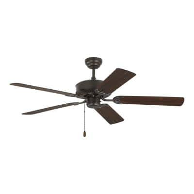 Haven DC 52 in. Indoor Bronze Ceiling Fan with Pull Chain