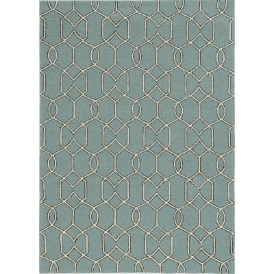 Spa Groovy Gate 8 ft. x 10 ft. Area Rug