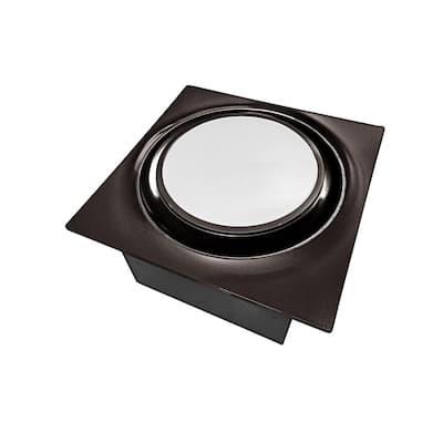 Low Profile 80 CFM Oil Rubbed Bronze 0.3 Sones Quiet Ceiling Bathroom Ventilation Fan with LED Light/Night Light