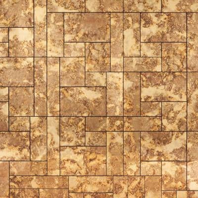 Lana Gold 14 in x 18 in. Antique Glass Mosaic Tile (1.75 sq. ft. / sheet)