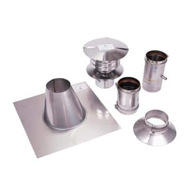 4 in. Vertical Stainless Steel Venting Kit