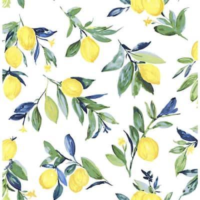 Lemon Drop Yellow Vinyl Peel & Stick Wallpaper Roll (Covers 30.75 Sq. Ft.)