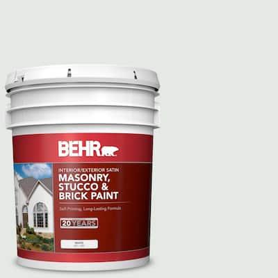 5 gal. #MS-63 White Clad Satin Interior/Exterior Masonry, Stucco and Brick Paint