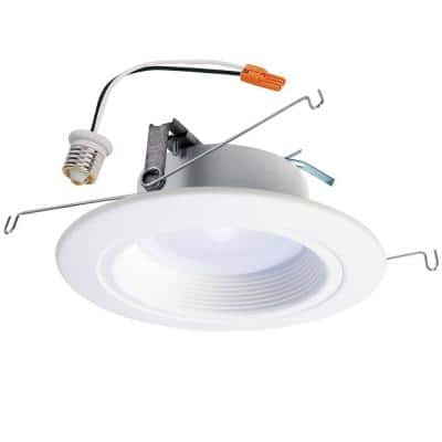 RL 5 in. and 6 in. 3500K Bright White Integrated LED Recessed Ceiling Light Trim, Title 20 Compliant