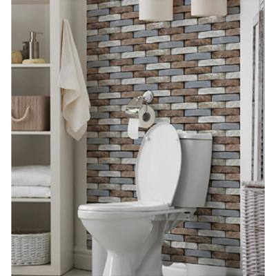 3D PVC Peel and Stick Mosaic Tile Sticker, 12 in. x 12 in. (Set of 20-Piece)
