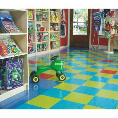 Imperial Texture VCT 12 in. x 12 in. Bodacious Blue Standard Excelon Commercial Vinyl Tile (45 sq. ft. / case)